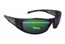 Unisafe Ulan Replacement Sunglass Lenses - 70mm wide - 38mm tall