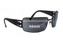 Sunglass Fix New Replacement Lenses for Versace MOD 2032-B - 64mm Wide