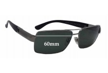 Sunglass Fix New Replacement Lenses for Versace MOD 2041 - 60mm Wide