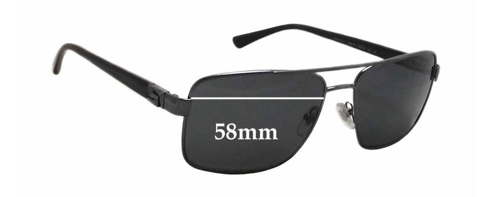 7165ae2d1aca Versace MOD 2141 Replacement Sunglass Lenses - 58mm wide x 44mm tall