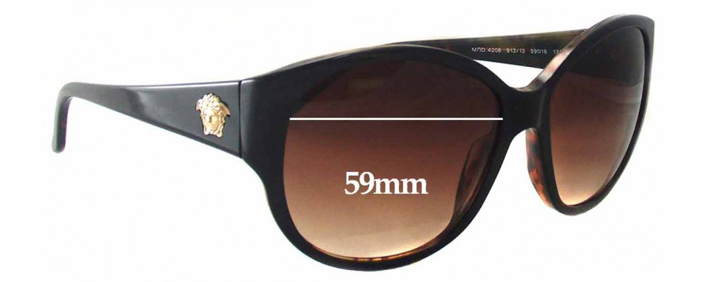 f1ccbf2ed9cd Versace Replacement Lenses 2041. Home → Versace Replacement Lenses 2041. Versace  MOD 4055 Replacement Sunglass Lenses - 63mm Wide