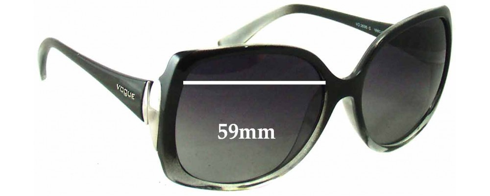 Vogue VO2695-S Replacement Sunglass Lenses - 59mm Wide