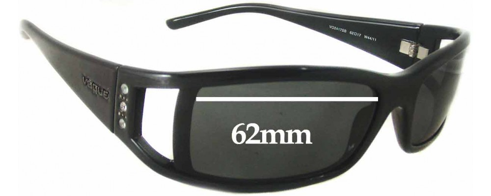 Vogue VO2417SB Replacement Sunglass Lenses - 62mm Wide