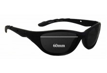 Wiley X Airrage Replacement Sunglass Lenses - 60mm Wide