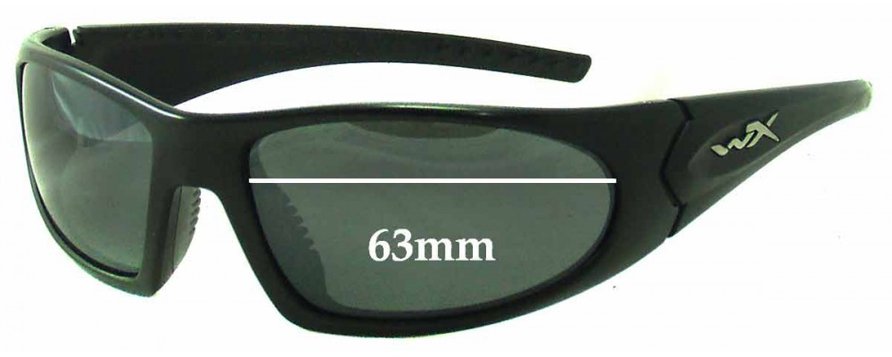 Wiley X Zen Replacement Sunglass Lenses - 63mm Wide
