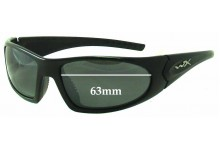 Wiley X Zen Replacement Sunglass Lenses - 63mm Wide