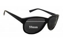 William Rast 2059P Replacement Sunglass Lenses - 59mm wide - 47mm tall