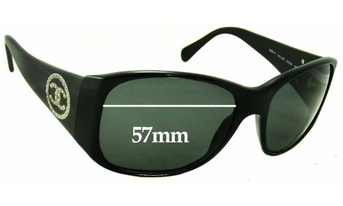 Chanel 5083-H Replacement Sunglass Lenses - 57mm wide