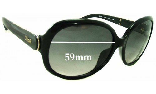 Chloe CE611S Replacement Sunglass Lenses - 59mm wide