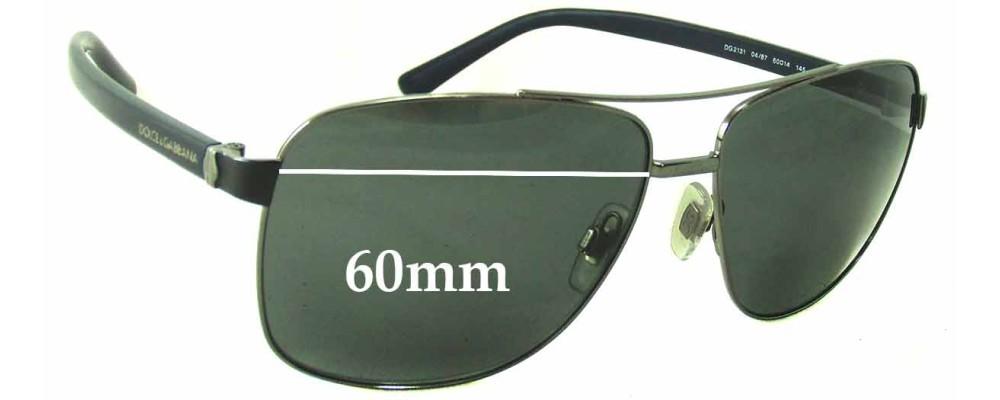 Dolce & Gabbana DG2131 Replacement Sunglass Lenses - 60mm wide
