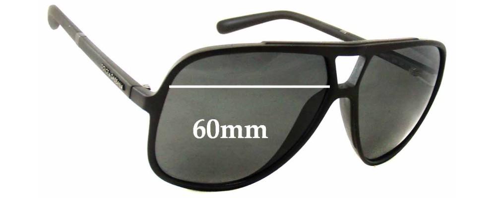 Dolce   Gabbana DG6081 Replacement Lenses- 60mm Wide   Sunglass Fix b24fbb2865
