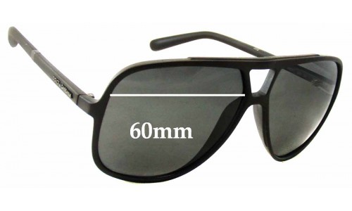 Dolce & Gabbana DG6081 Replacement Sunglass Lenses- 60mm Wide