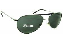 Giorgio Armani GA 916S Replacement Sunglass Lenses - 59mm wide