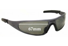 Player Replacement Sunglass Lenses - no specific model - 67mm Wide by 36mm tall