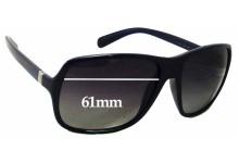 Prada SPR 07N Replacement Sunglass Lenses - 61mm wide