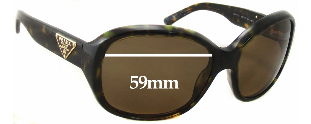 Prada SPR10M Replacement Sunglass Lenses - 59mm wide