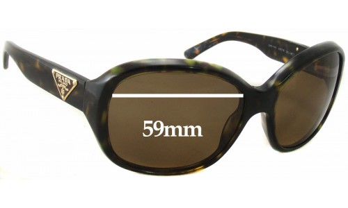 Prada SPR10M Sunglass Replacement Lenses - 59mm wide