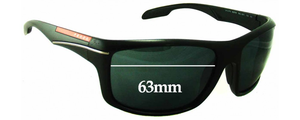 Prada SPS 01N Replacement Sunglass Lenses - 63mm Wide