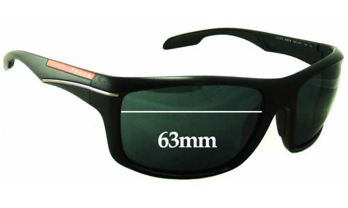 Prada SPS 01N Replacement Sunglass Lenses - 63mm Wide