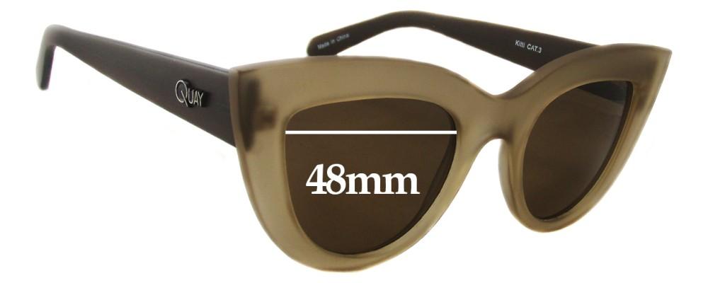 Quay Australia Kitti New Sunglass Lenses - 48mm wide