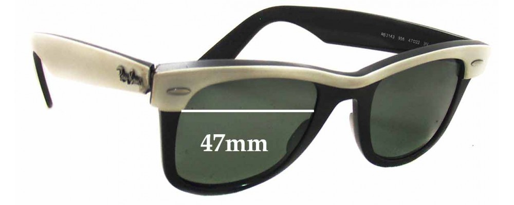 Ray Ban RB2143 Wayfarer Replacement Sunglass Lenses - 47mm wide lenses