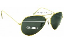 Sunglass Fix Replacement Lenses for Ray Ban RB3026 BL - 63mm wide