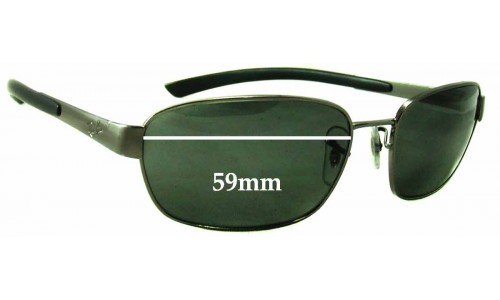 Ray Ban RB3430 Replacement Sunglass Lenses - 59mm wide