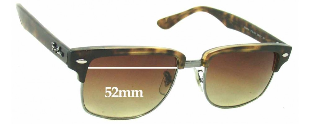 ray ban sunglasses lenses gwhe  Ray Ban RB4190 Clubmaster Square Replacement Sunglass Lenses