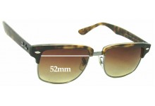 Ray Ban RB4190 Clubmaster Square Replacement Sunglass Lenses - 52mm Wide