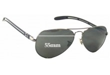 Ray Ban Aviator Tech RB8307 Replacement Sunglass Lenses - 55mm Wide
