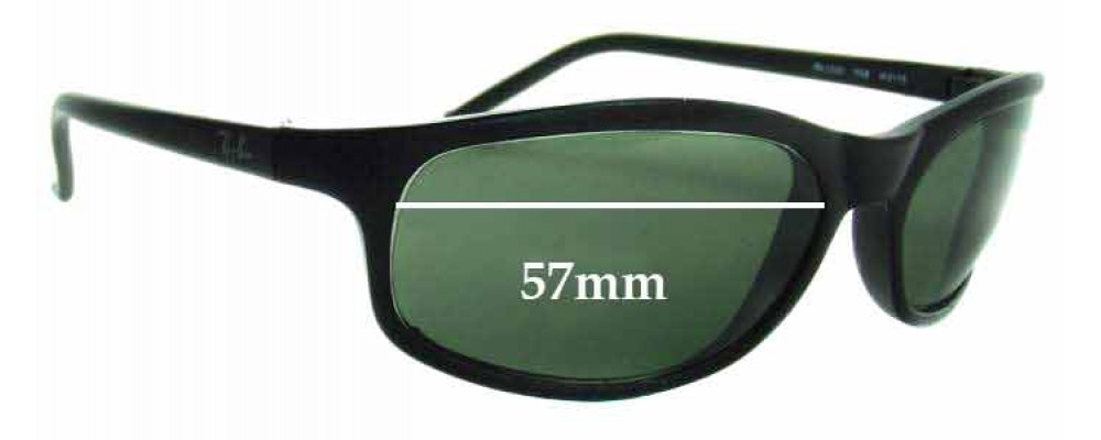 Ray Ban RB2030 Replacement Sunglass Lenses - 57mm Wide