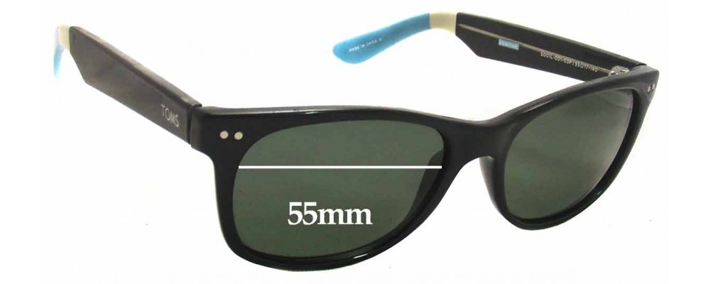 dd64bf1687ab Toms Beachmaster S001L Replacement Sunglass Lenses - 55mm Wide