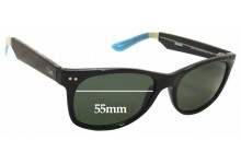Sunglass Fix New Replacement Lenses for Toms Beachmaster S001L - 55mm Wide