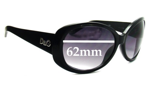 Dolce & Gabbana DG8081 Replacement Sunglass Lenses- 62mm Wide