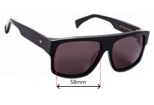AM Eyewear Berko Replacement Sunglass Lenses - 58mm Wide
