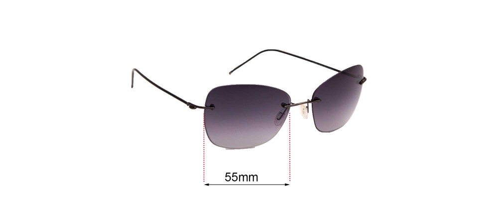 Sunglass Fix Replacement Lenses for Maui Jim MJ717 - 55mm Wide