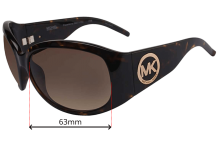 Michael Kors Pasadenas - M2711S Replacement Sunglass Lenses - 63mm wide