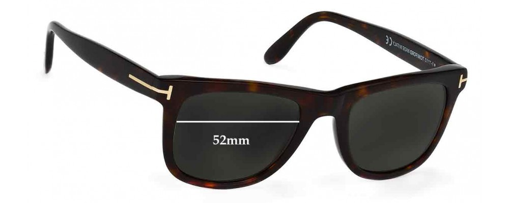 7a8111ef2a Tom Ford Leo TF0336 Replacement Lenses 52mm by The Sunglass Fix®