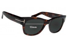 Tom Ford Cary TF 58 Replacement Sunglass Lenses - 52mm wide