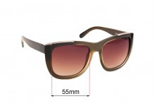 Sunglass Fix Replacement Lenses for Chloe CE659S - 55mm wide