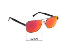 Sunglass Fix Replacement Lenses for Ermenegildo Zegna EZ 0068 - 57mm wide