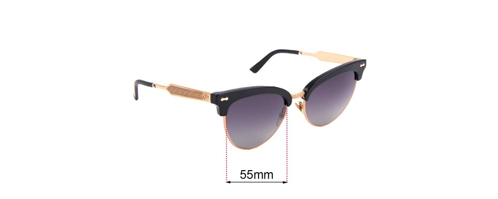 Gucci GG 4283/S Replacement Sunglass Lenses - 55mm wide
