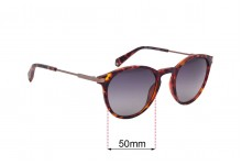 Sunglass Fix Replacement Lenses for Polaroid PLD 2062-S - 50mm wide