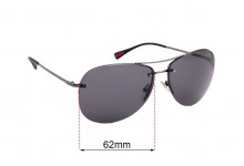 Sunglass Fix Replacement Lenses for Prada SPS50R - 62mm wide