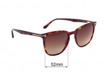 Tom Ford TF5506 Replacement Sunglass Lenses - 52mm Wide