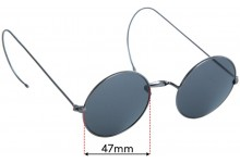 Agstum Small Round Replacement Sunglass Lenses - 47mm wide