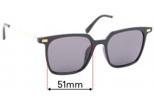 Sunglass Fix Replacement Lenses for A.J Morgan 40165 - 51mm Wide