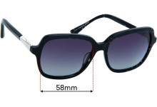 Sunglass Fix Replacement Lenses for Alex Perry AP Sun Rx 45 - 58mm Wide