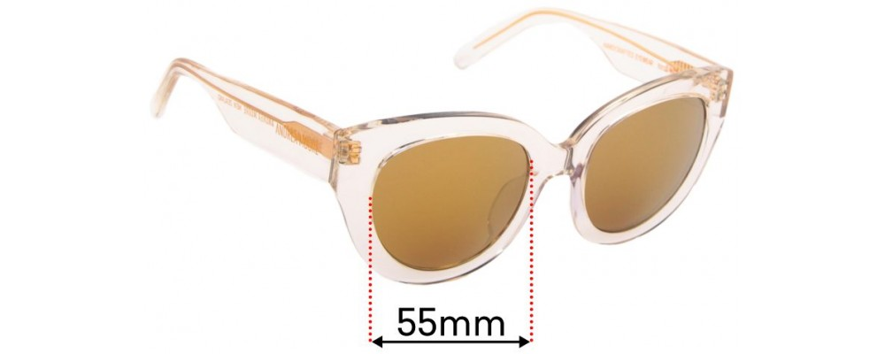 Sunglass Fix Replacement Lenses for Andrea Moore Flash Bright- 55mm Wide