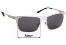 Sunglass Fix Replacement Lenses for Arnette Back Side 3076 - 56mm Wide